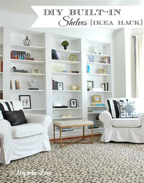 Built In Bookshelves by How To Build Diy Built In Bookcases From Ikea Billy