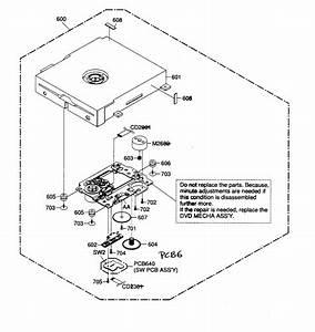 Toshiba Model 26lv61k Tv  Vcr Or Dvd Combo Genuine Parts