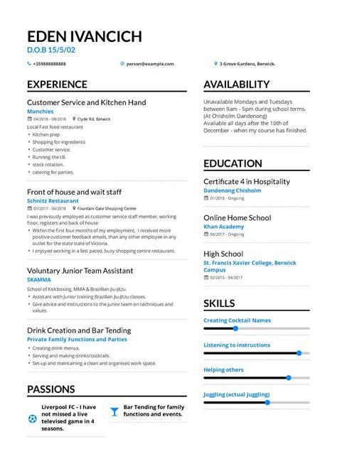 fresher resume formats  samples