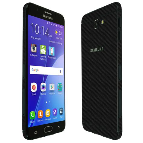 Samsung Galaxy On Nxt TechSkin Black Carbon Fiber Skin