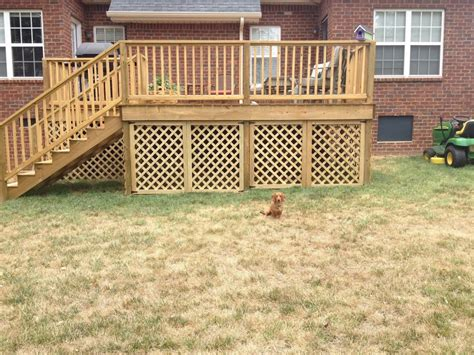 inexpensive deck skirting ideas deck lattice here are some simple inexpensive d
