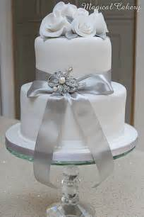 silver wedding silver wedding anniversary cake flickr photo