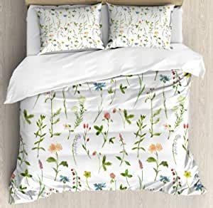 Amazon.com: SfeatrutMAT Floral Duvet Cover Set, Spring ...