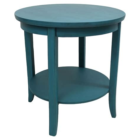 ashbury  tier  side table antique teal