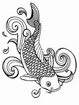 Coloring Fish Pages Detailed Koi Outline Printable Lips Kissing Drawing Adults Seafood Colorings Betta Getcolorings Fishing Fishes Pa Getdrawings Drawings sketch template