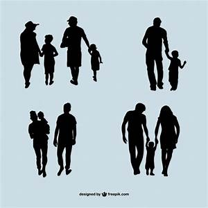 Family vector silhouettes Vector | Free Download