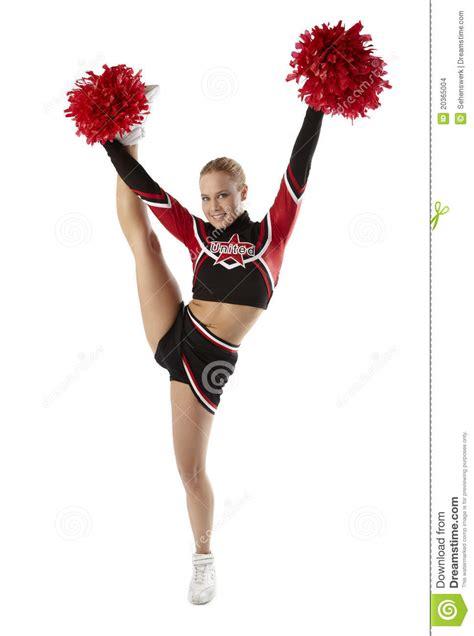 cheerleader pose stock photo image  figure american