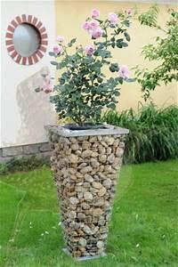 Gitter Für Steine : gabionen pflanzens ulen pflanzgabionen planzengabionen ~ Michelbontemps.com Haus und Dekorationen