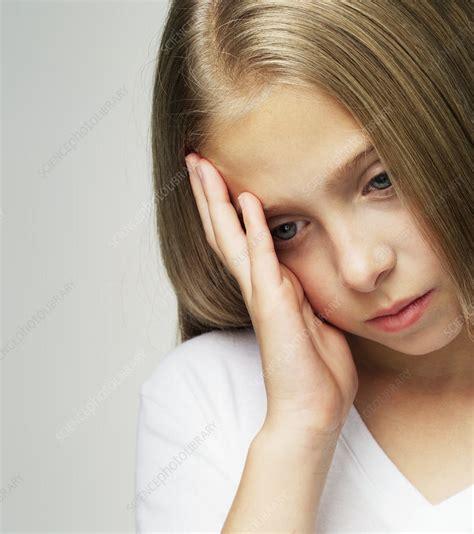 Depressed Child Stock Image M2450804 Science Photo