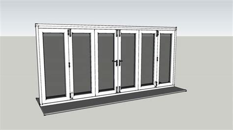 sketchup components  warehouse folding sliding window