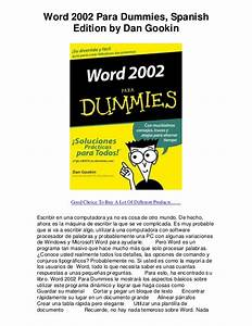 word 2002 para dummies spanish edition by dan gook good With word documents for dummies