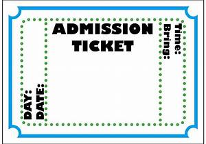 Free printable admission ticket template clipart best for Entry tickets template