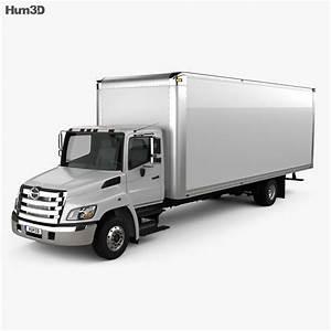 Hino 258 Box Truck 2013 3d Model