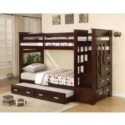 allentown bunk bed espresso walmart