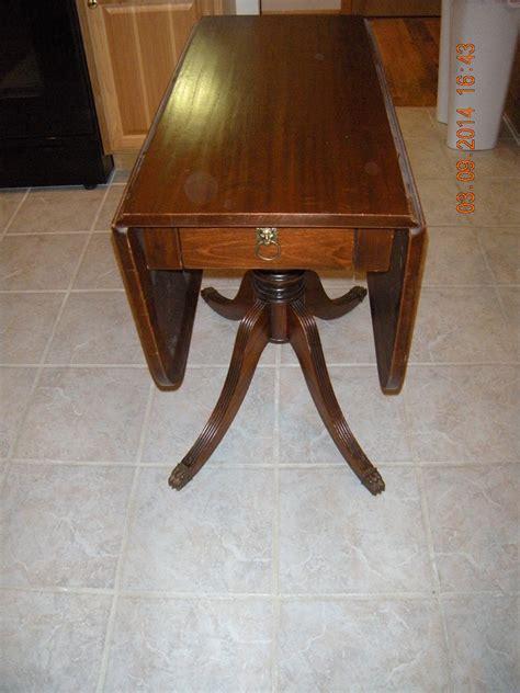 duncan phyfe fife drop leaf table antique appraisal