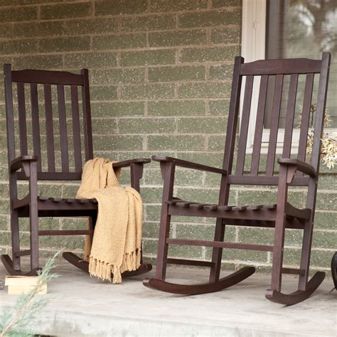 porch rocking chairs coral coast indoor outdoor mission slat rocking chairs