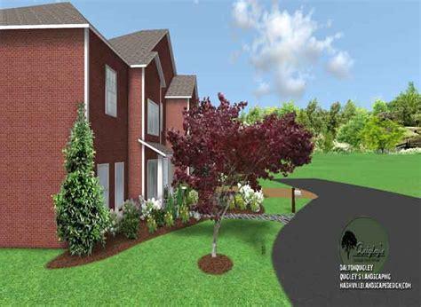 welcoming front yard nashville landscape design services quigleys landscape design