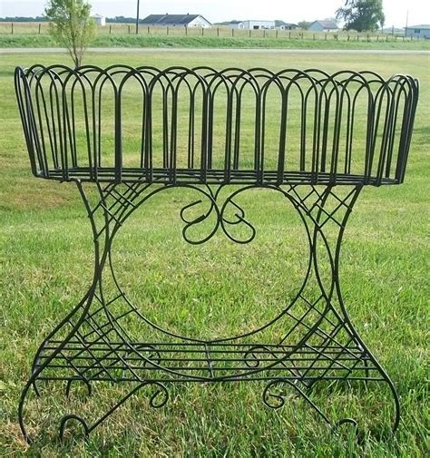 wrought iron flower plant stands