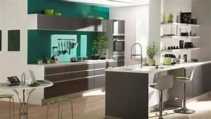 cuisines ouvertes sur le salon dix idees d39agencement With agencement de cuisine ouverte