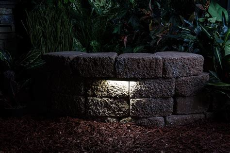 led retaining wall lights led hardscape light 6 quot landscape retaining wall light