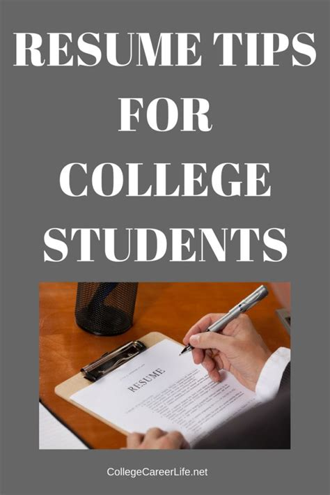 Resume Tips For College Students resume tips for college students college career