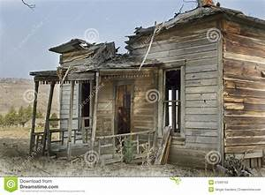 Broken Abandoned Wooden House Stock Image - Image of ...