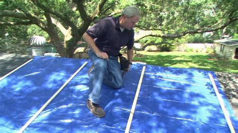 Best Way To Clean Fireplace by How To Attach A Tarp To A Leaking Storm Damaged Roof