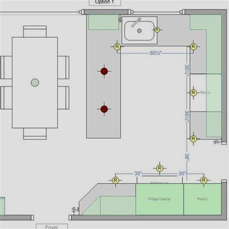 How to Draft the Kitchen Lighting Layout Using Recessed