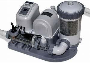 Intex 2000 Gph Swim Pool Pump  U0026 Saltwater Chlorinator