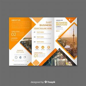 Trifold business brochure template Vector | Free Download