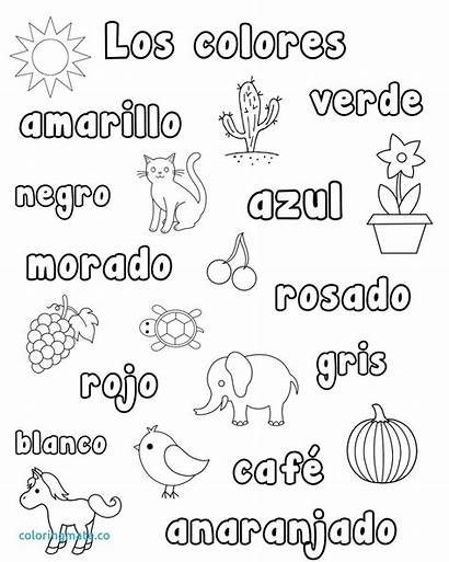 Spanish Coloring Pages Worksheets Numbers Colors Preschool