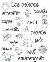 Spanish Coloring Pages Worksheets Numbers Colors Printable Words Lessons Preschool Worksheet Number Elementary Colores Activities Los Kindergarten Simple Books Getcolorings sketch template
