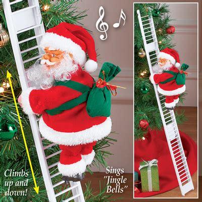 santa climbing ladder christmas decoration