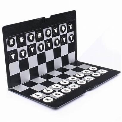 Chess Pocket Magnetic Mini Board Portable Checkers