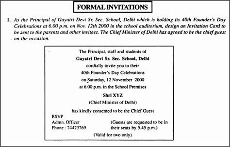 format  formal invitation  class