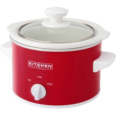 kitchen selectives crock pot kitchen selectives 1 5 quart cooker walmart