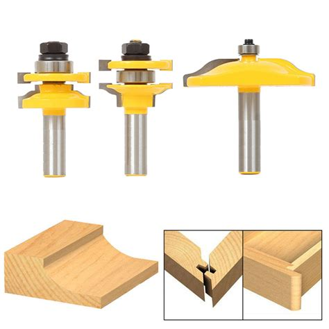 cabinet door router bit set bit raised panel cabinet door router bit set 1 2 quot shank