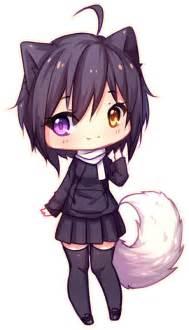 Anime Chibi Wolf Girl