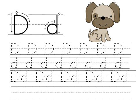 printable letters to trace printable trace letter d worksheets printable shelter 27913