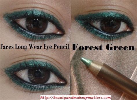 faces canada long wear eye pencil forest green review