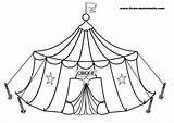 Circus Coloring Cirque Tent Coloriage Pages Dessin Funny Clown Carnival Children Sheets Chapiteau Colorier Le Imprimer Print Clipart Printable Sheet sketch template