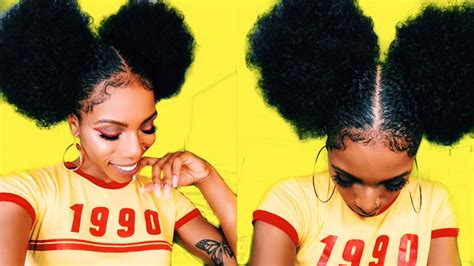 90s Hairstyles Black by 5 Afro Puff Baby Hair Goals Style Torial 90s 70s