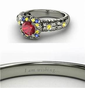 Beautiful engagement rings inspired by disney princesses for Snow white wedding ring
