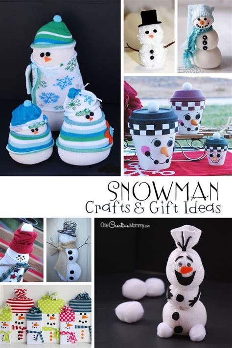 snowman crafts  gift ideas onecreativemommycom