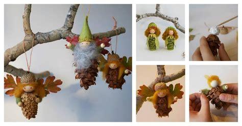 pinecone fairy ornaments