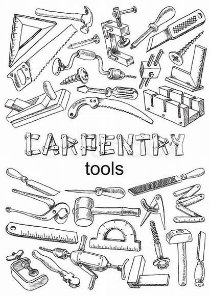 Tools Carpentry Outils Menuiserie Woodworking Tattoo Drawing