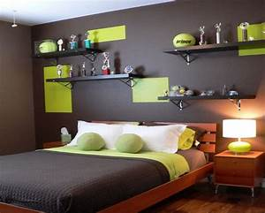 Male teenage room idea colours with grey design bed for Bedroom interior design for teenage boys