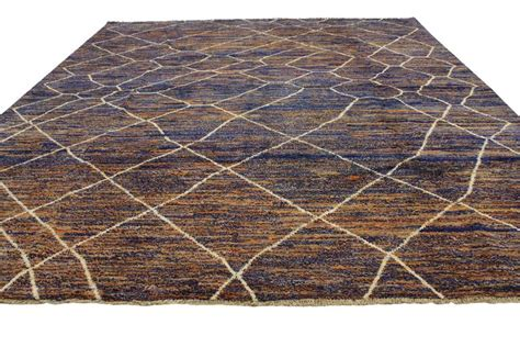 Contemporary Moroccan Style Area Rug With Abstract Design
