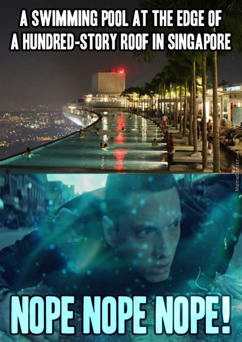 Singapore Meme - how to involuntarily pee yourself on the pool by totally random dude meme center