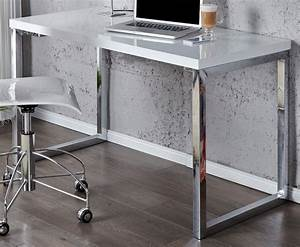 Design Schreibtisch Weiß : design schreibtisch fokus hochglanz weiss 120cm x 60cm dunord ~ Heinz-duthel.com Haus und Dekorationen